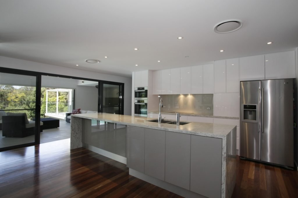 kitchen in architecturally designed home