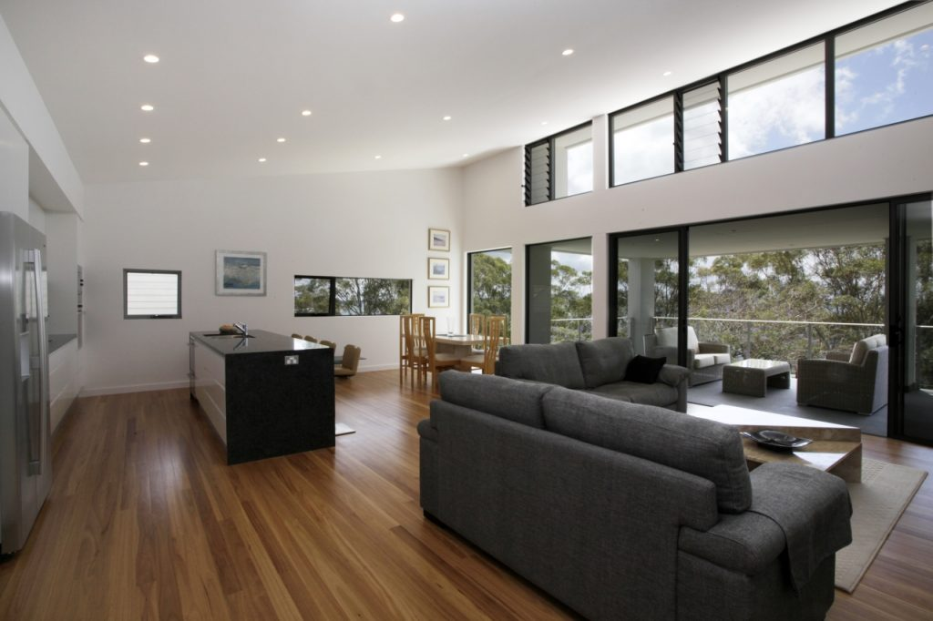 nelson bay home with skylights
